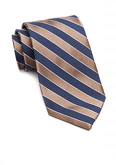 Saddlebred Extra Long Salem Navy Stripe Tie