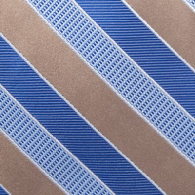 Big and Tall Ties: Taupe Saddlebred Extra Long Jackson Stripe Tie