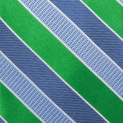 Big & Tall: Saddlebred Ties: Green Saddlebred Extra Long Jackson Stripe Tie