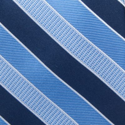Big and Tall Ties: Navy Saddlebred Extra Long Jackson Stripe Tie