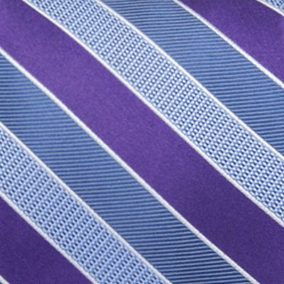 Saddlebred Big & Tall Sale: Purple Saddlebred Extra Long Jackson Stripe Tie