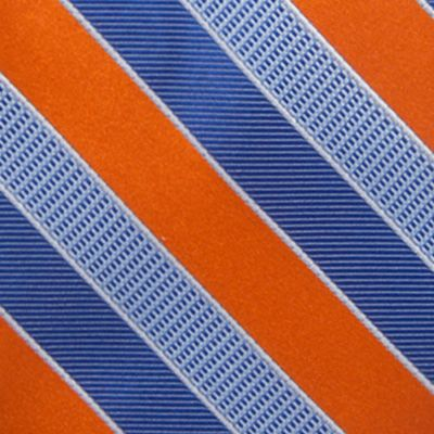 Big and Tall Ties: Orange Saddlebred Extra Long Jackson Stripe Tie