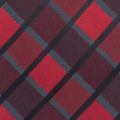 Big and Tall Ties: Red Saddlebred Extra Long Jacob Grid Tie