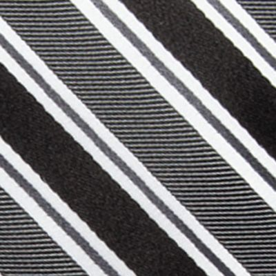 Big & Tall: Saddlebred Ties: Black Saddlebred Extra Long Vince Stripe Tie
