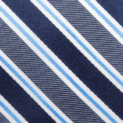 Big and Tall Ties: Navy Saddlebred Extra Long Vince Stripe Tie