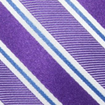 Big & Tall: Saddlebred Ties: Purple Saddlebred Extra Long Vince Stripe Tie