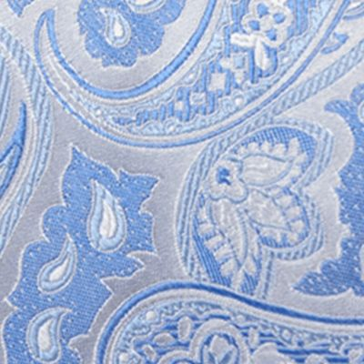 Big and Tall Ties: Blue Saddlebred Extra Long Victor Paisley Tie
