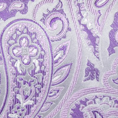 Necktie: Purple Saddlebred Extra Long Victor Paisley Tie