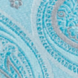Saddlebred Big & Tall Sale: Aqua Saddlebred Extra Long Joaquin Paisley Print Tie