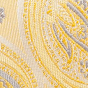Big & Tall: Ties Sale: Yellow Saddlebred Extra Long Joaquin Paisley Print Tie
