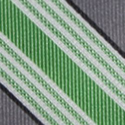 Big & Tall: Saddlebred Accessories: Green Saddlebred Extra Long Longcrest Stripe Print Tie
