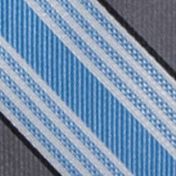 Big & Tall: Saddlebred Accessories: Medium Blue Saddlebred Extra Long Longcrest Stripe Print Tie