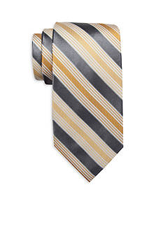 Saddlebred Extra Long Longcrest Stripe Print Tie