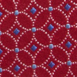 Big & Tall: Saddlebred Accessories: Red Saddlebred Extra Long Lunar Connected Neat Print Tie