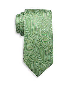 Saddlebred Extra Long Lychee Paisley Print Tie