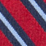 Big & Tall: Saddlebred Accessories: Red Saddlebred Extra Long Darby Stripe Tie