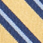 Big & Tall: Saddlebred Accessories: Yellow Saddlebred Extra Long Darby Stripe Tie