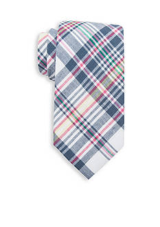 Saddlebred Asher Madras Cotton Plaid Tie