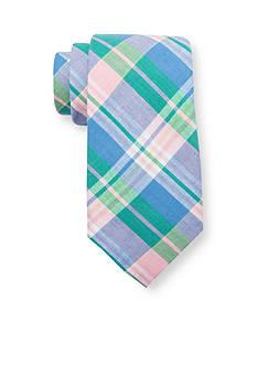 Saddlebred Alston Cotton Plaid Tie