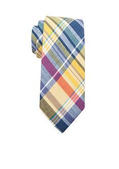Saddlebred Alec Madras Cotton Plaid Tie