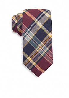 Saddlebred Dice Madras Plaid Tie