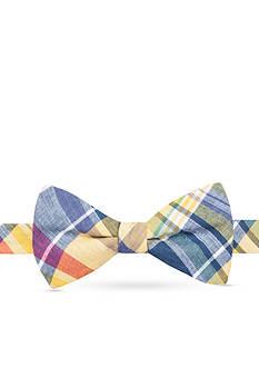 Saddlebred Pre-Tied Alec Madras Plaid Bow Tie