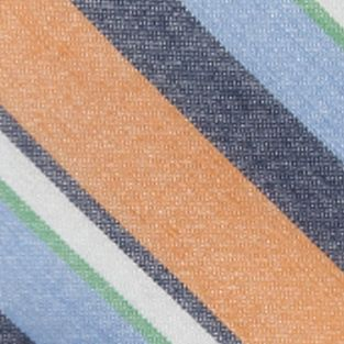 Young Mens Neckties: Orange Saddlebred Maritime Stripe Tie
