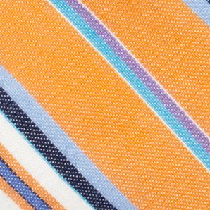 Young Men: Bow Sale: Orange Saddlebred Reversible Salem Stripe Solid Self Tie Bow Tie