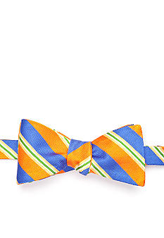 Saddlebred Textured Multi Bar Stripe Bow Tie