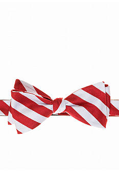 Saddlebred Collegiate Rugby Stripe Bow Tie