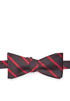 Saddlebred Collegiate Bar Striped Bow Tie