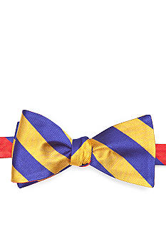 Saddlebred Reversible Rugby Stripe Bow Tie