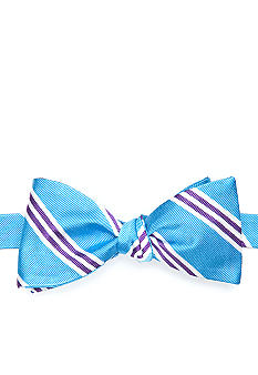 Saddlebred Three Bar Repp Stripe Bow Tie