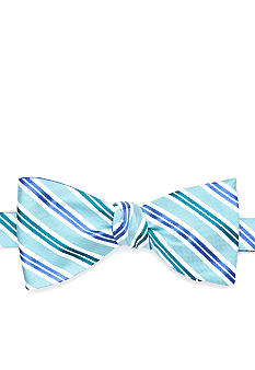 Saddlebred Reversible Stripe Flower Bow Tie