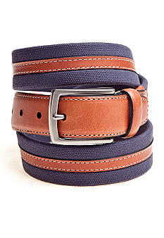 Saddlebred Fabric Leather Center Belt