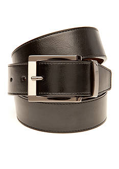 Saddlebred Big & Tall Leather Reversible Dress Belt