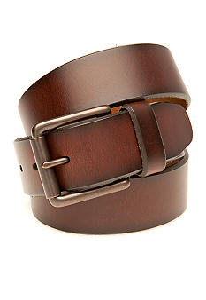 Saddlebred Big & Tall Casual Brown Leather Belt
