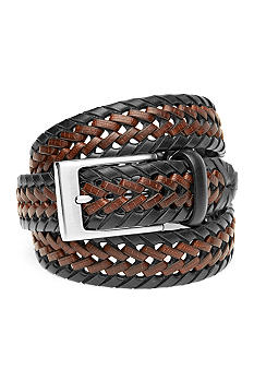 Saddlebred Big & Tall Two Tone Braided Belt