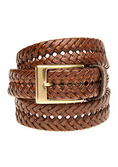 Saddlebred Big & Tall Tan Braided Belt
