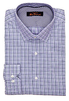 Ben Sherman® Slim Fit Plaid Dress Shirt