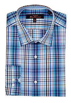 Ben Sherman Slim Fit Kings Plaid Dress Shirt