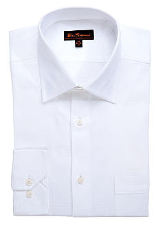Ben Sherman White Tonal Dress Shirt
