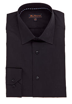 Ben Sherman Black Solid Dress Shirt