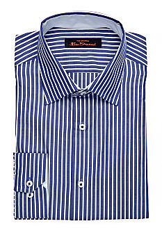Ben Sherman Slim Fit Kings Striped Florentine Dress Shirt