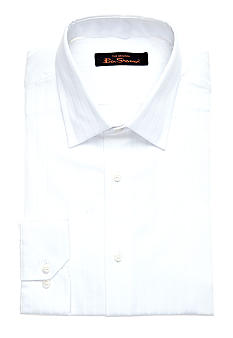Ben Sherman Slim Fit Textured Tonal Florentine Dress Shirt