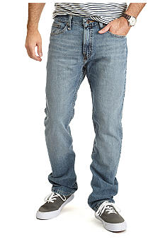 Nautica Straight Fit Cross Hatch Jeans