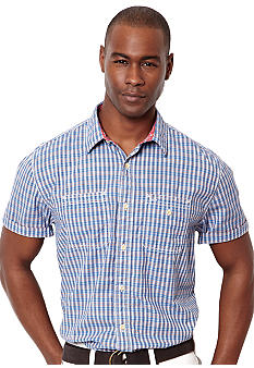 Nautica Multi Plaid Poplin Shirt
