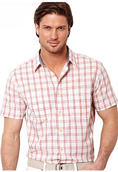 Nautica Two-Pocket Medium Plaid Shirt