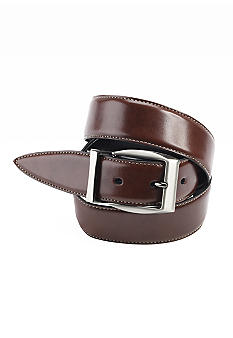 Geoffrey Beene Antique Kid Grain Leather Casual/Dress Belt