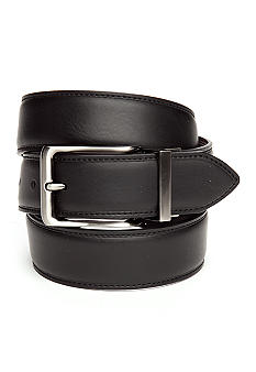 Geoffrey Beene Brushed Nickel Reversible Belt